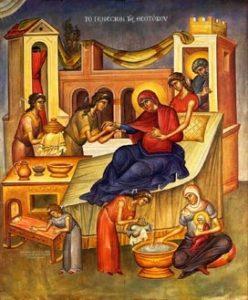 Икона на Рождество на Пресвета Богородица